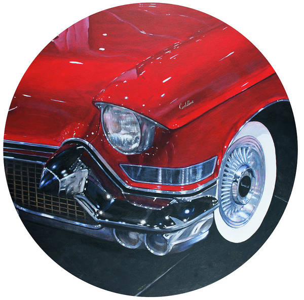 Painting - Vintage Red by Christopher Reid