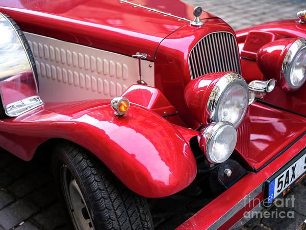 Wall Art - Photograph - Vintage Red Ride Prague by John Rizzuto
