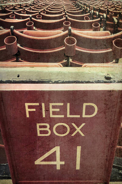 Photograph - Vintage Red Sox Fenway Park Seats by Joann Vitali