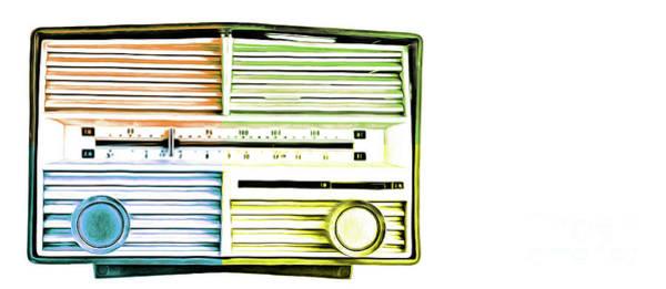 Painting - Vintage Retro Radio Pop Art Mug by Edward Fielding