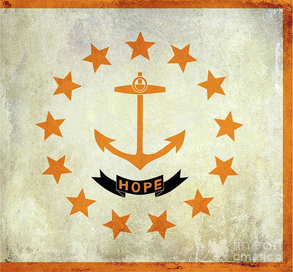 Wall Art - Photograph - Vintage Rhode Island Flag by Jon Neidert