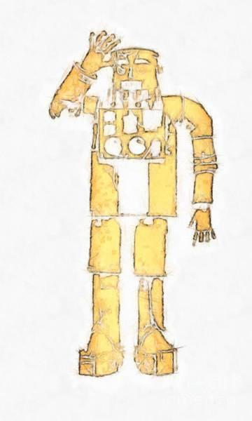 Digital Art - Vintage Robot Pencil by Edward Fielding