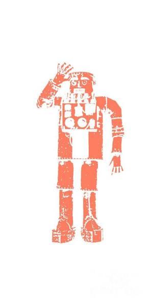 Wall Art - Digital Art - Vintage Robot Tee by Edward Fielding