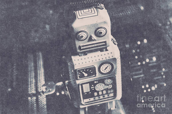 Sci-fi Photograph -  Vintage Robot Toy by Jorgo Photography - Wall Art Gallery