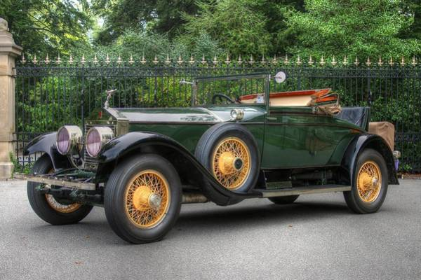 Photograph - Vintage Rolls Royce With Yellow Rims by Frank G Montoya