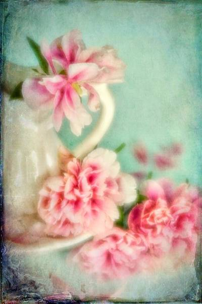 Photograph - Vintage Romantic Peonies by Diane Alexander