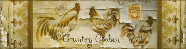 Wall Art - Painting - Vintage Rooster Country Cookin' by Mindy Sommers