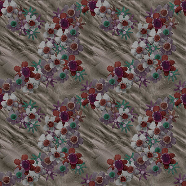 Digital Art - Vintage Rumpled Blossoms by April Burton