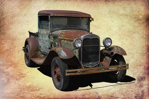 Clunker Wall Art - Photograph - Vintage Rusty Ford Truck by Nick Gray