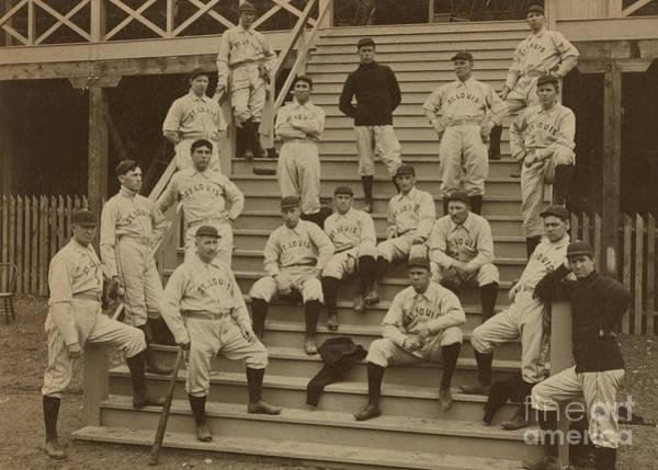 Baseball Player Wall Art - Photograph - Vintage Saint Louis Baseball Team Photo by American School