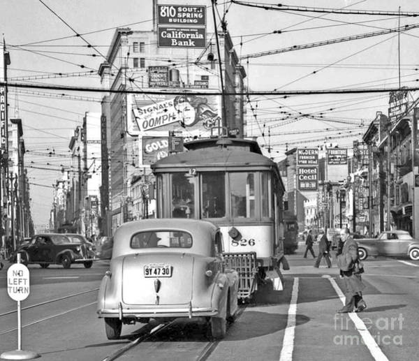 Wall Art - Photograph - Vintage San Francisco Street Car Line  by Pd