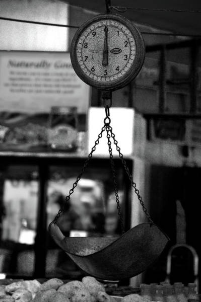 Photograph - Vintage Scale Bw by Lesa Fine