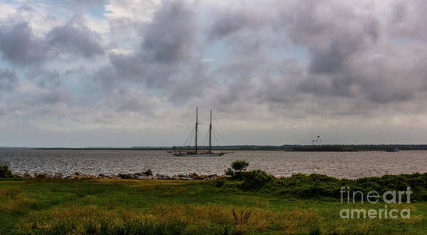 Photograph - Vintage Schooner Sailing Into Charleston South Carolina  by Dale Powell