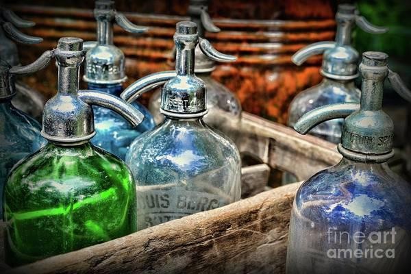 Wall Art - Photograph - Vintage Seltzer Bottles In Crate by Paul Ward