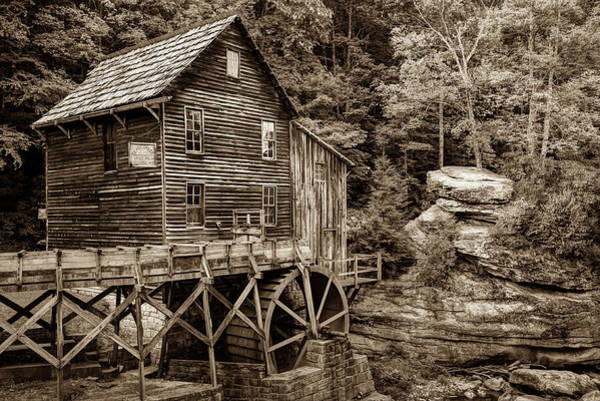 Photograph - Vintage Sepia Glade Creek Mill - West Virginia by Gregory Ballos
