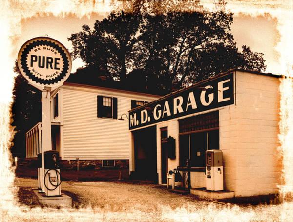 Wall Art - Photograph - Vintage Service Station by Kenneth Krolikowski