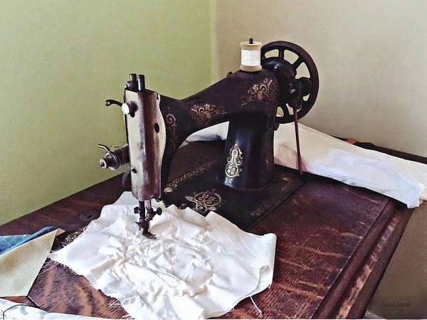 Photograph - Vintage Sewing Machine Circa 1900 by Susan Savad