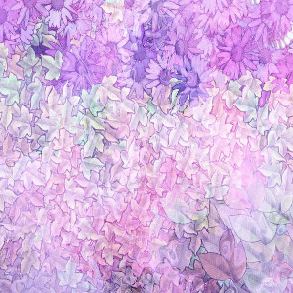 Painting - Vintage Shabby Chic Pretty Two Tone Pastel Lilacs by Shabby Chic and Vintage Art