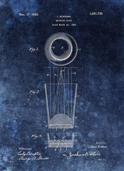 Beam Drawing - Vintage Shot Glass Patent  by Dan Sproul