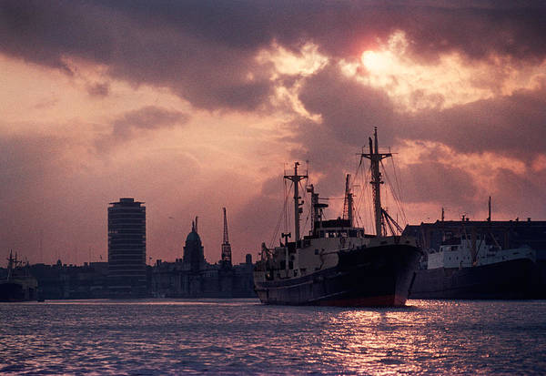 River Liffey Wall Art - Photograph - Vintage Shot Of The Guinness Boat Lady by Panoramic Images