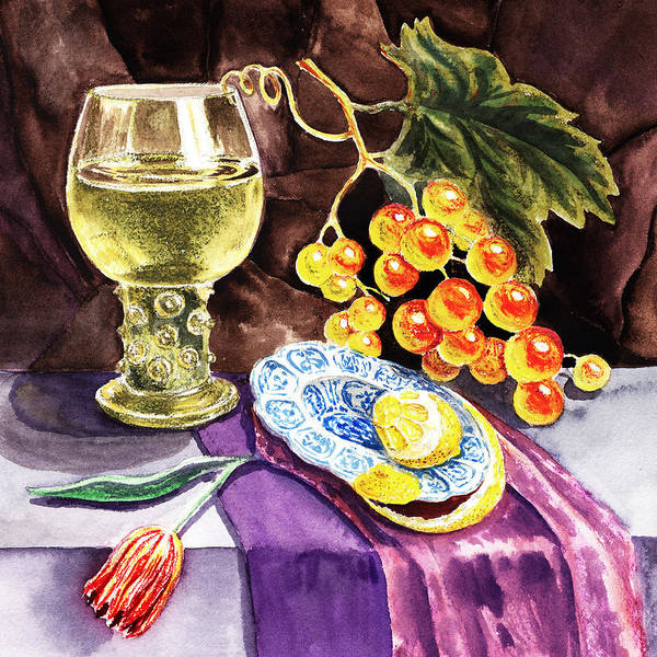 Wall Art - Painting - Vintage Sill Life With Goblet by Irina Sztukowski