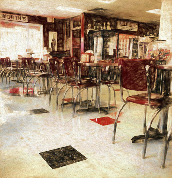 Wall Art - Mixed Media - Vintage Small Town Diner by Dan Sproul