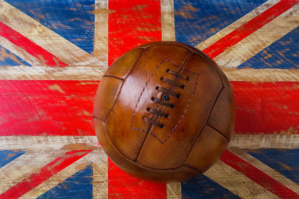 Wall Art - Photograph - Vintage Soccer Ball British Flag by Garry Gay