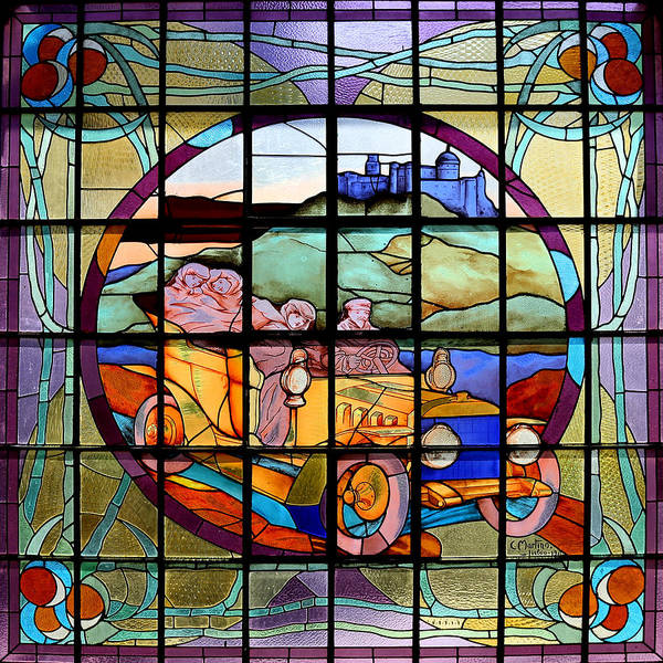 Photograph - Vintage Stained Glass by Andrew Fare