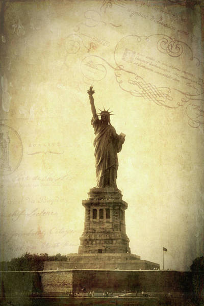 Photograph - Vintage Statue Of Liberty 2 by Joann Vitali