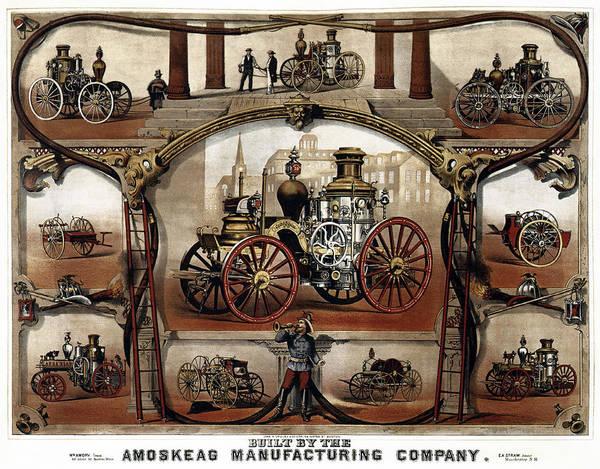 Wall Art - Photograph - Vintage Steam Fire Engine Catalog C. 1885 by Daniel Hagerman