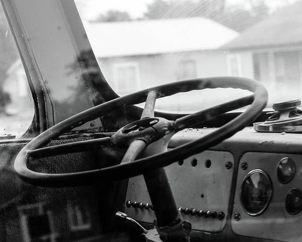Photograph - Vintage Steering by Adam Reinhart