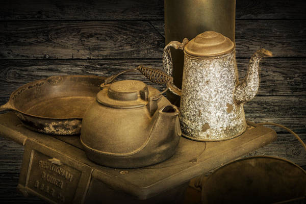 Photograph - Vintage Stovetop With Kettles by Randall Nyhof