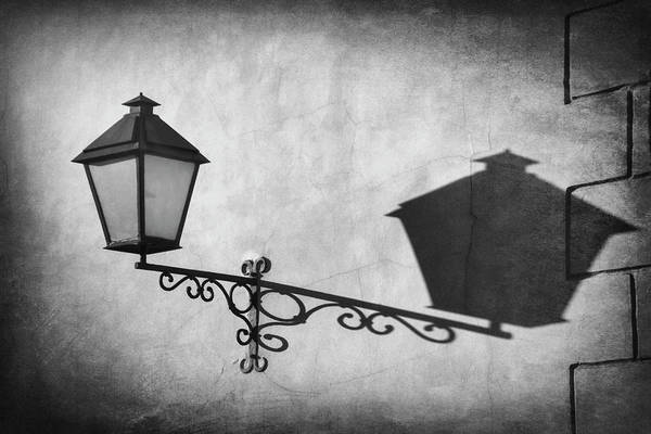 Wall Art - Photograph - Vintage Street Lamp Gdansk Poland In Black And White  by Carol Japp
