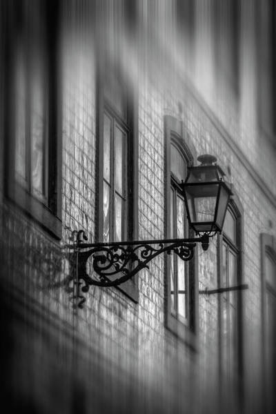 Wall Art - Photograph - Vintage Street Lamp In Lisbon Portugal In Black And White  by Carol Japp