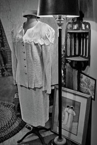 Dress Form Photograph - Vintage Suit - Floor Lamp by Nikolyn McDonald