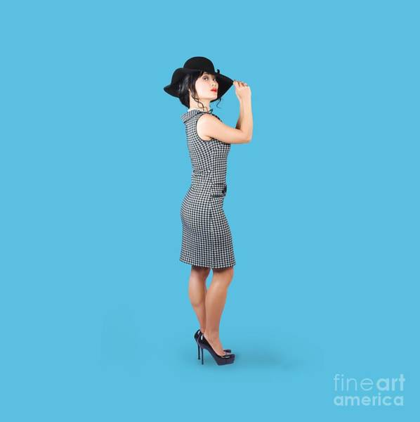 Blue Dress Photograph - Vintage Summer Clothes Woman. Full Length Portrait by Jorgo Photography - Wall Art Gallery
