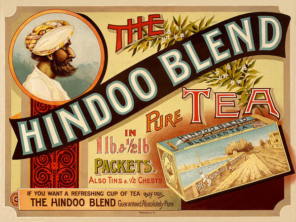 Photograph - Vintage Tea Advertisement by Andrew Fare