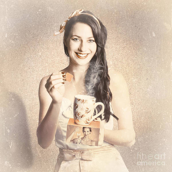 Wall Art - Photograph - Vintage Tea Advertisement Pin-up by Jorgo Photography - Wall Art Gallery