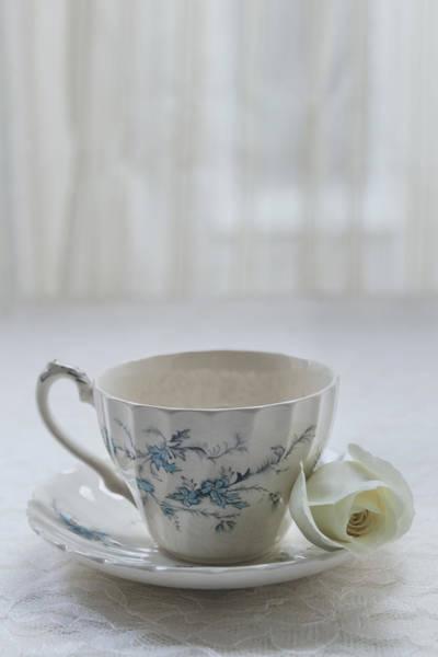 Photograph - Vintage Teacup And Rose by Kim Hojnacki