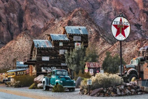 Photograph - Vintage Texaco Gas Station  by Susan Candelario