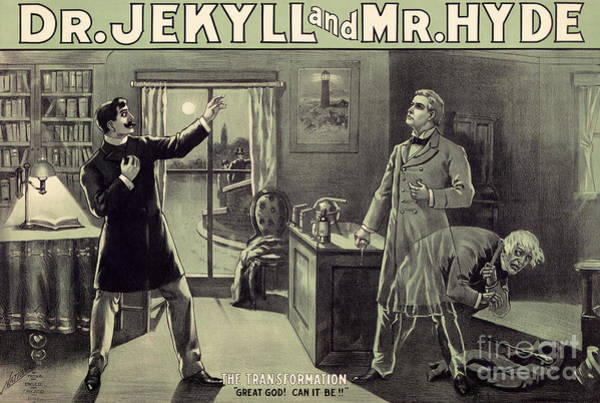 Wall Art - Painting - Vintage Theater Poster For A Performance Of Dr Jekyll And Mr Hyde In London by English School