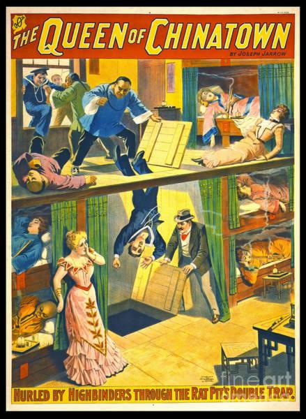 Vintage Theatrical Poster 1899 Art Print
