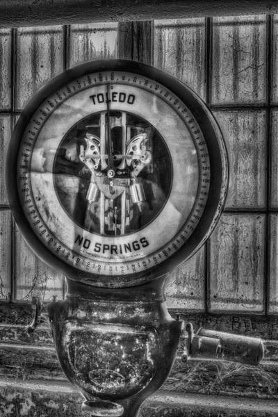 Photograph - Vintage Toledo No Springs Scale Bw by Susan Candelario
