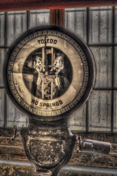 Photograph - Vintage Toledo No Springs Scale by Susan Candelario