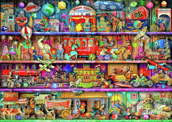 Wall Art - Digital Art - Vintage Toys II by MGL Meiklejohn Graphics Licensing