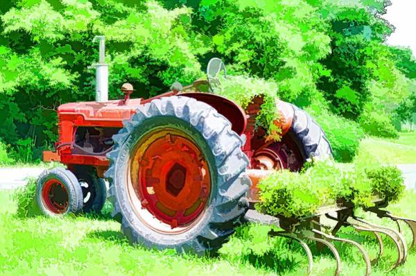 Custom Truck Painting - Vintage Tractor 1 by Jeelan Clark