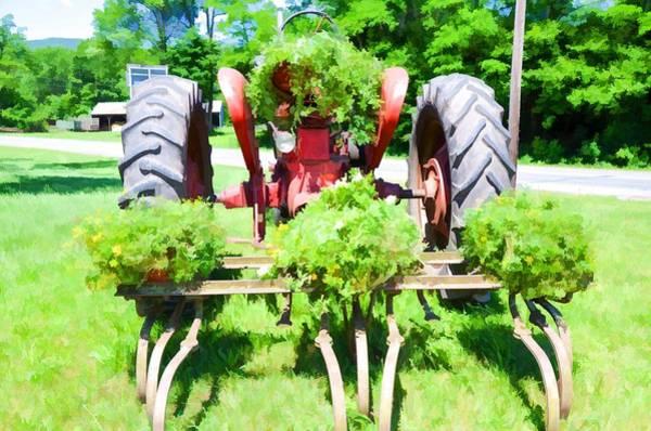 Custom Truck Painting - Vintage Tractor 3 by Jeelan Clark