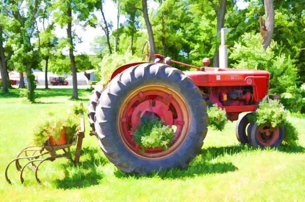 Custom Truck Painting - Vintage Tractor 4 by Jeelan Clark