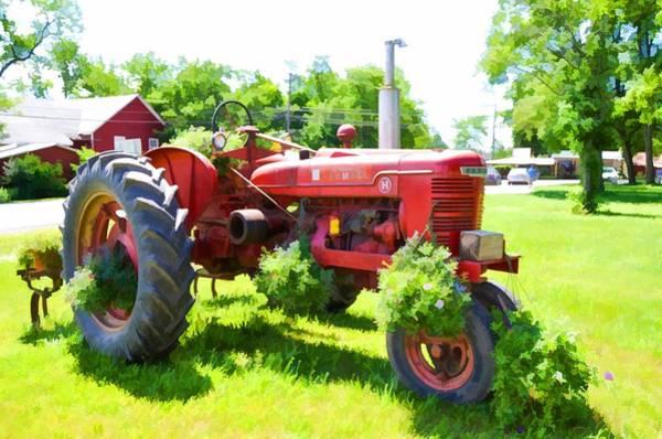 Custom Truck Painting - Vintage Tractor 5 by Jeelan Clark