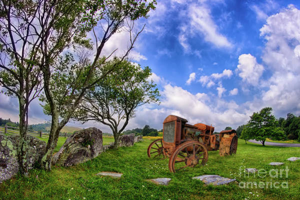 Wall Art - Photograph - Vintage Tractor In The Blue Ridge by Dan Carmichael